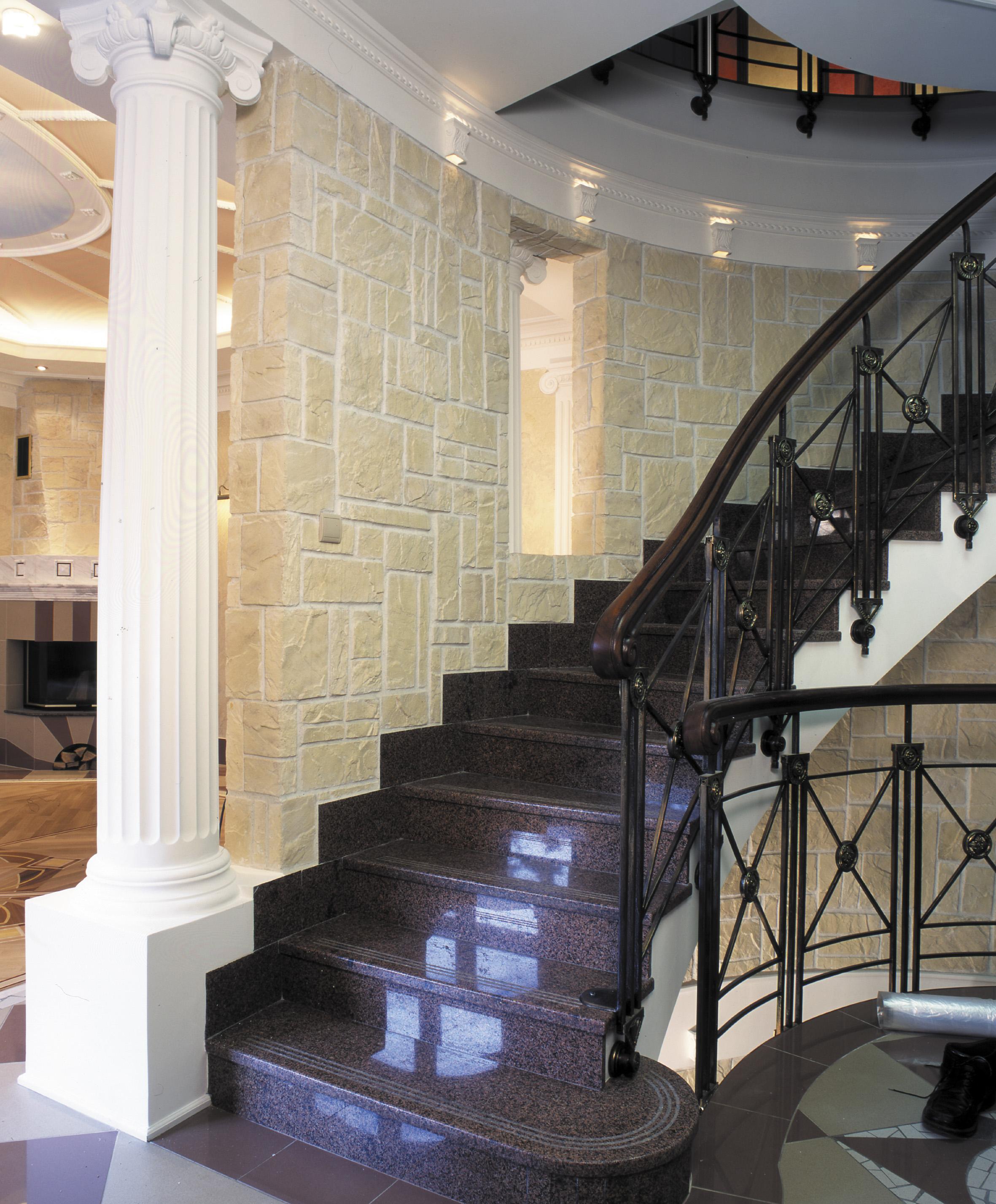Винтовая лестница из искусственного камня Gralit