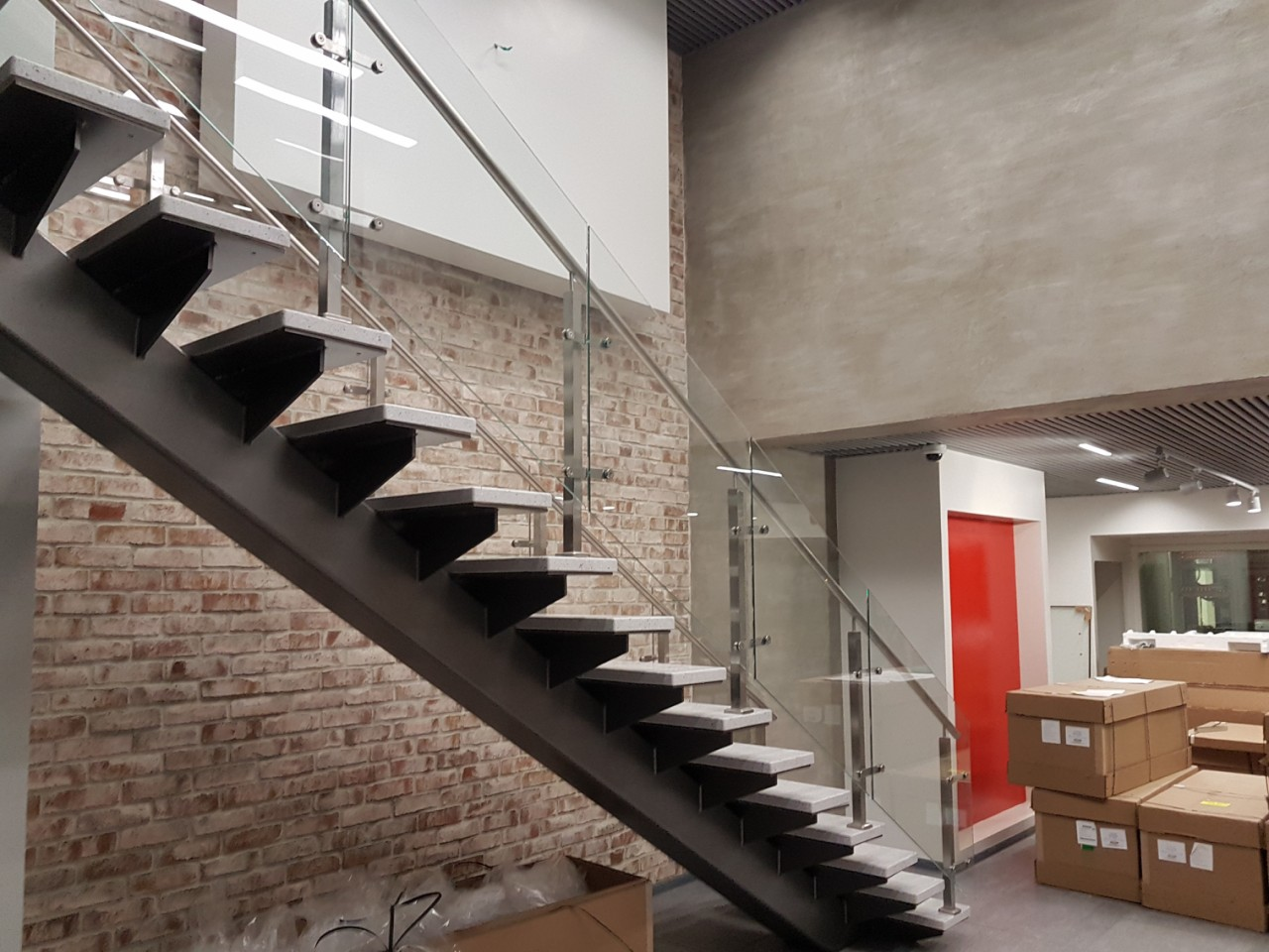 Лестница в офисе канала ТВЦ