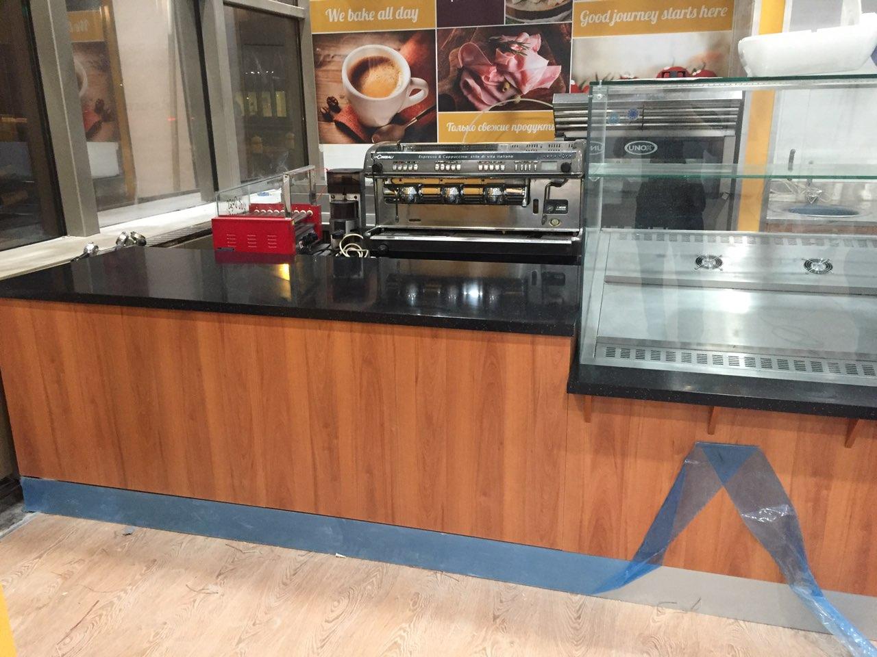 Столешница для кафе в аэропорту Шереметьево