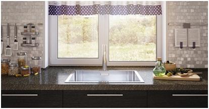 Столешница на кухню со встроенным подоконником