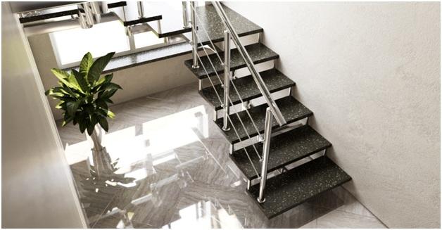 Лестница из цельного искусственного камня Gralit