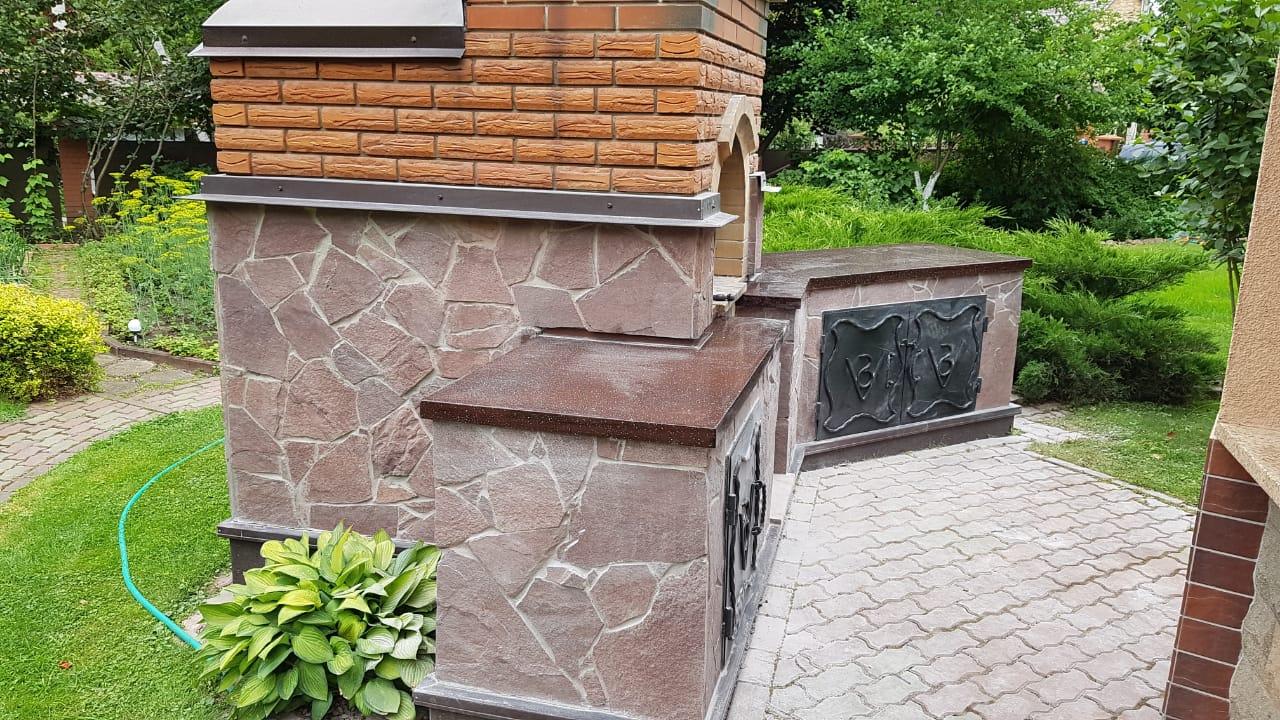 Столешница для улицы из искусственного камня