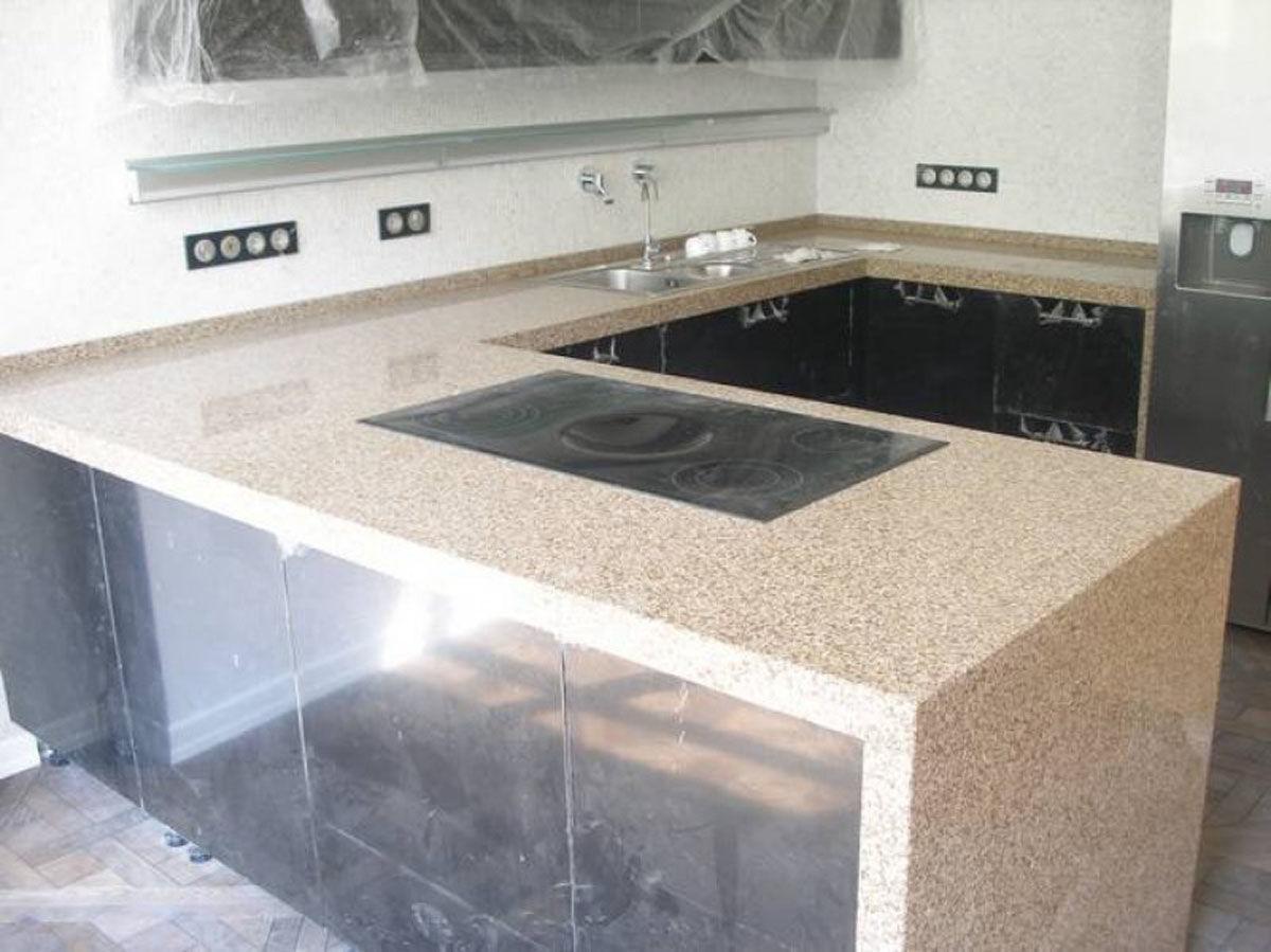 Столешница П — образная на кухне