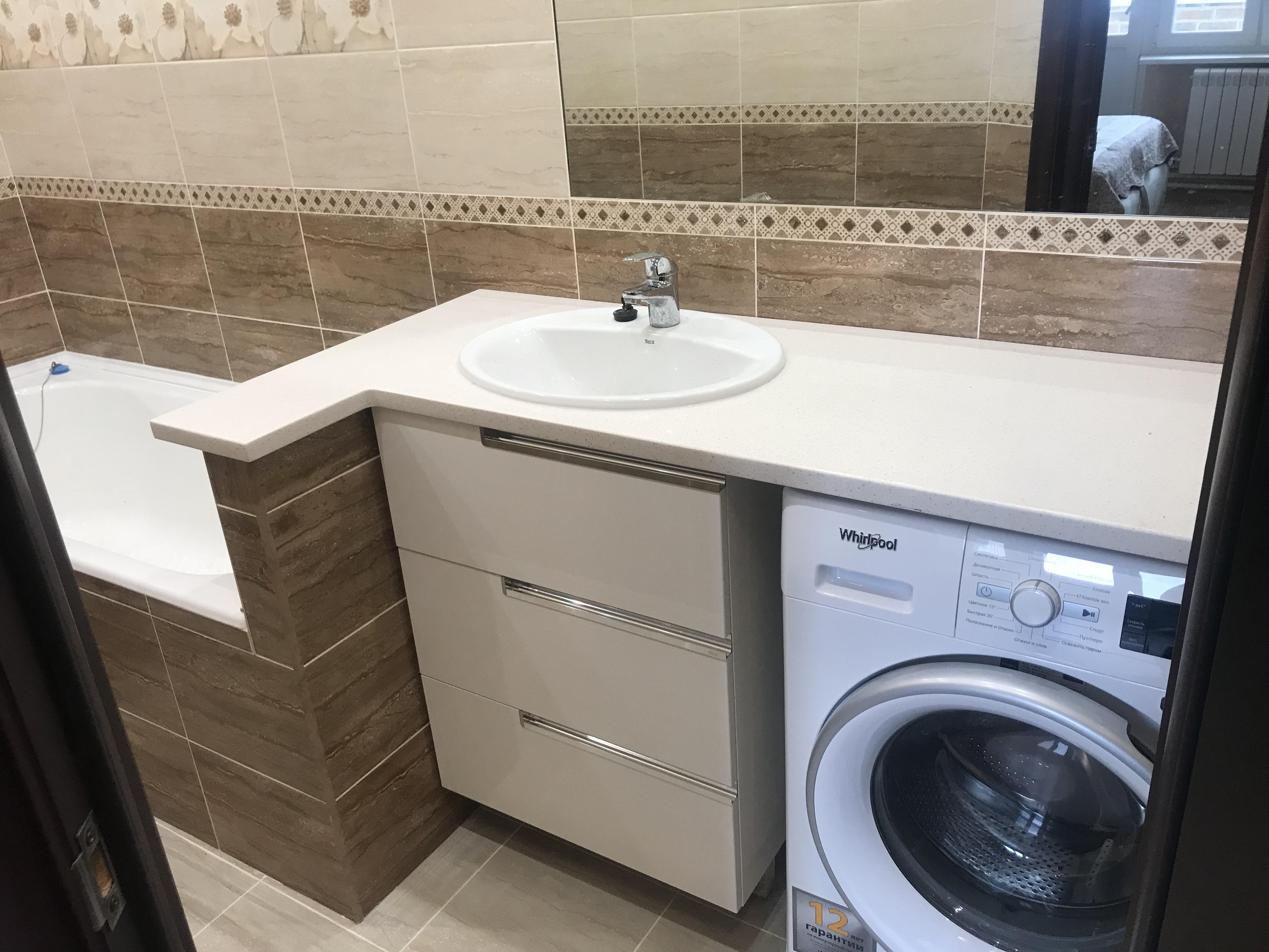 Столешница в ванную под стиральную машину